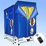 Ttlife Secadora Ropa Eléctrica Calentada Tendederos para Ropa Interior Grande automático silencioso 1500W 33LB de Capacidad Armario Plegable de Iones Negativos Ropa Seca en días lluviosos