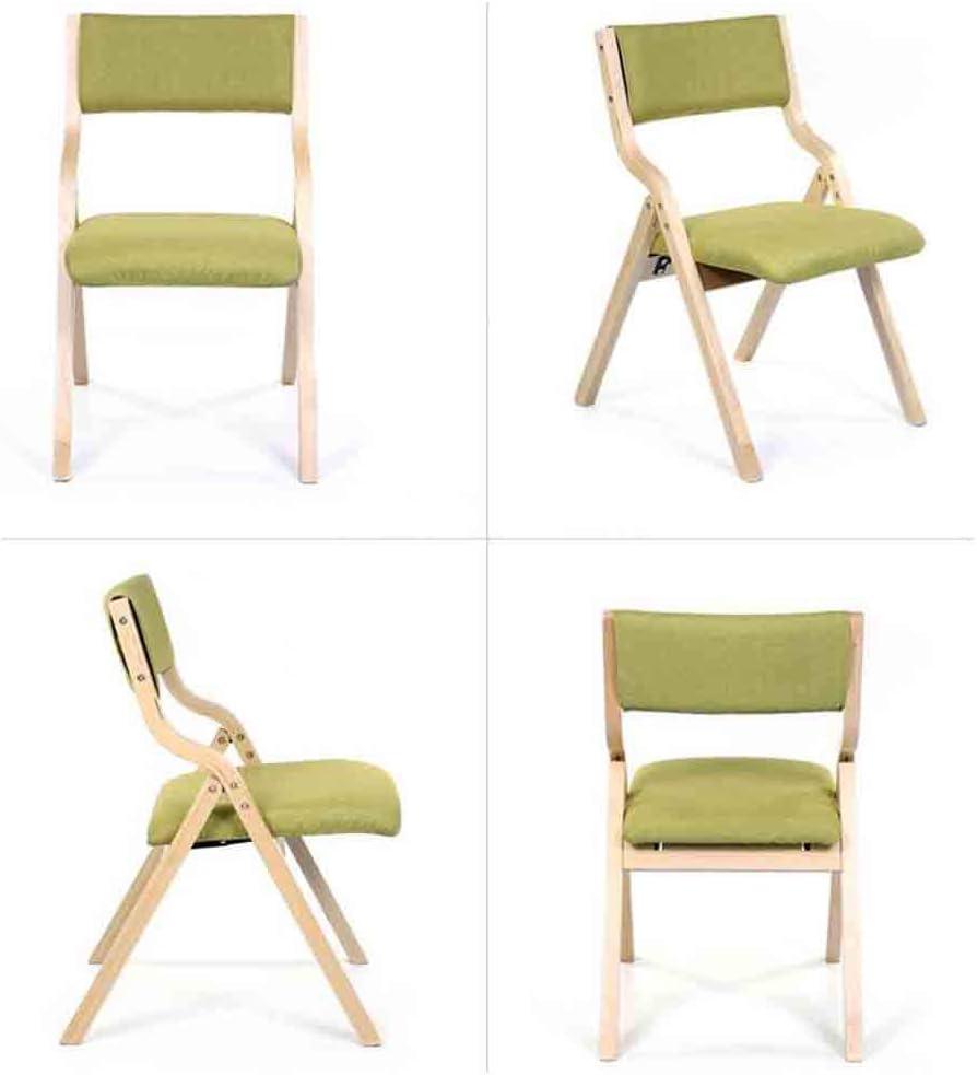 GLJJQMY Coussin Pliant décontracté dinant la Chaise Chaise Chaise Amovible Chaise empilable (Color : 4) 1