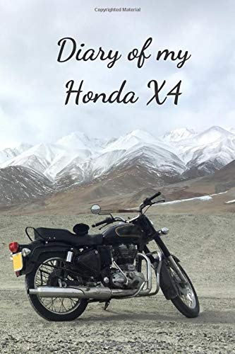 Diary Of My Honda X4: Notebook For Motorcyclist, Journal, Diary (110 Pages, In Lines, 6 x 9)