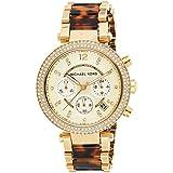 Michael Kors Women's Parker Gold Tortoise Watch MK5688
