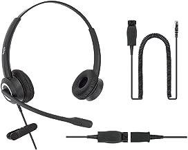 DailyHeadset Super Noise Canceling Binaural Office Phone Headset & HIS Adapter for Avaya IP Phones 1600, 9600, J100 Series Model