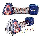 UTEX-3ps,Kinderspielzelt Bällebad Pop Up Spielzelt Iglu Spielhaus + Krabbeltunnel ,Für Drinnen Und Draußen