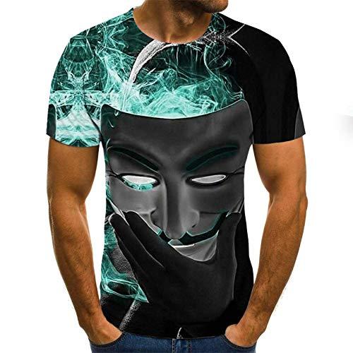 LKFTH Bier 3D-Druck T-Shirt Zeit Brief lustige Neuheit T-Shirts Kurzarm Tops Unisex Outfit Kleidung Persönlichkeit M Black
