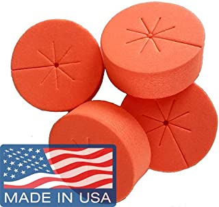 Cloning Collars Inserts Premium Grade Foam Better Than Neoprene. Fits 2 inch Net Cups/Pots for Hydroponics Plant Germination (fits 2 inch net pots/Cups, Orange - 50 Pack)