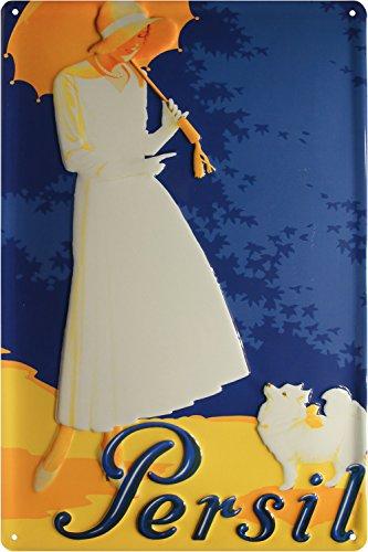 Persil Frau Waschmittel geprägt Nostalgie Reklame Blechschild 20x30 Blech 531