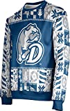 ProSphere Drake University Ugly Holiday Unisex Sweater - Wrapping Paper C9B0B656 Blue and Gray
