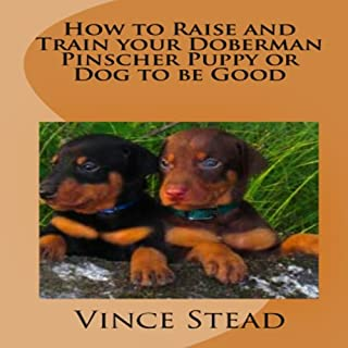 How to Raise and Train your Doberman Pincher Puppy or Dog to be Good                   By:                                                                                                                                 Vince Stead                               Narrated by:                                                                                                                                 Jason Lovett                      Length: 1 hr and 40 mins     8 ratings     Overall 2.6
