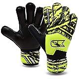CATCH & KEEP® Protector – Fingerschutz Kinder Torwarthandschuhe - Premium Torhüterhandschuhe für Kinder - Keeperhandschuhe mit extra starkem Grip (Gelb, 3)