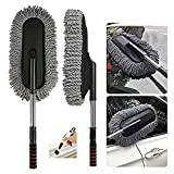 Getko With Device Microfiber Flexible Car Cleaning Duster Car Wash Dust Wax Mop