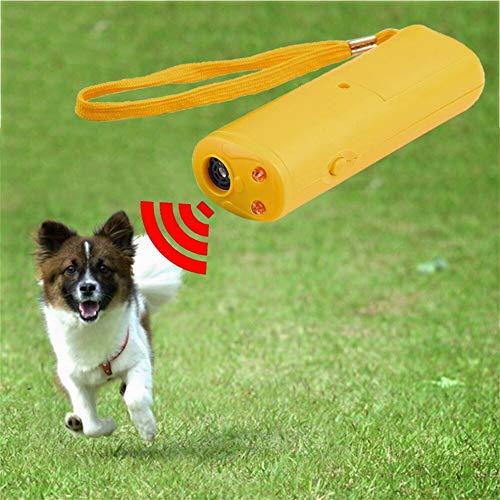 JSZ Halsband Hund Anti Bellen Neu 3 In 1 Anti Barking Stop Bark Ultraschall Haustier Hund Repeller Trainingsgerät Trainer Mit Led Großhandel Taschenlampe Taschenlampe