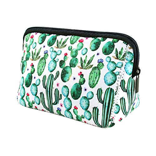 Makeup Bag Cactus cosmetic bag Pouch Waterproof Soft Neoprene Travel bag Zippered Storage Pouch