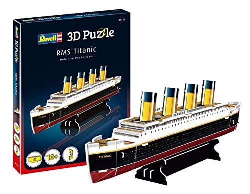 Revell 3D Puzzle 00112 RMS Titanic, das wohl berühmteste Schiff Welt in 3D entdecken, Bastelspass für Jung und Alt, farbig
