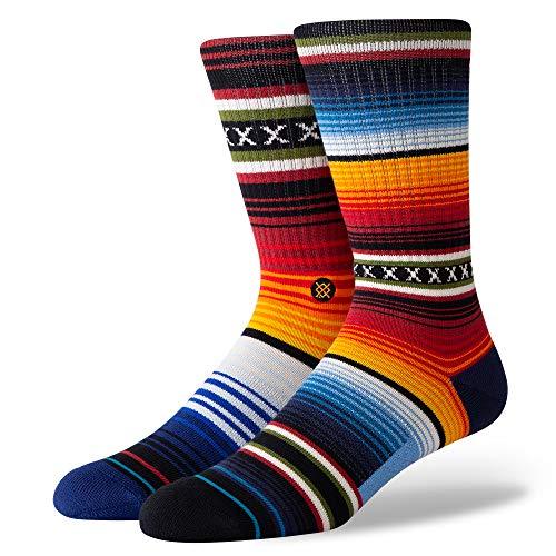 Stance Herren Crew Curren Socken, Red, M