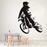 Motocicleta Stunt Moto Wallpaper Home Decor Wandaufkleber vinilo Auto Auto Moto Wandtattoo para niños 44 x 57 cm