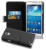 Cadorabo Hülle für Samsung Galaxy Note 3 in Oxid SCHWARZ