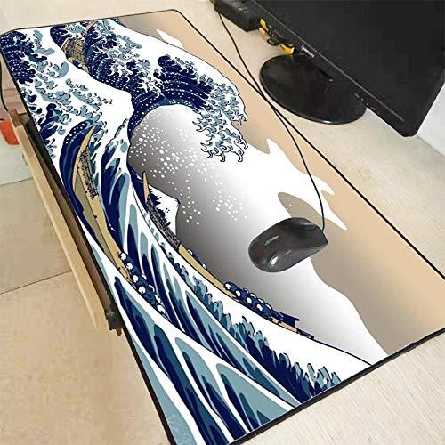 Alfombrilla de ratón de gran tamaño para PC, de goma natural, para videojuegos, para CS GO LOL, 400 x 900 x 3 mm