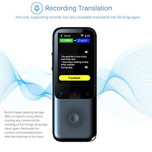 Smart Voice Language Translator Device, Portable Translator Real-time, Voice/Photo/Recording Translation, WiFi/Hotspot/Offline, Support 137 Languages Photo #4
