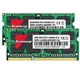 Kuesuny 8 GB Kit (2x4 GB) DDR3 1333 MHz RAM per MacBook PRO (Inizio/fine 2011), iMac (metà 2010, metà/fine 2011), Mac Mini (metà 2011) | PC3-10600 SO-DIMM Kit di aggiornamento della Memoria a 204 Pin
