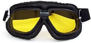 ZRWL Gafas de Ciclismo de Color Big Dazzle Gafas de Cross-Country Gafas de Harley Gafas Retro para Deportes al Aire Libre (Color : Amarillo)