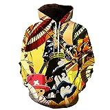 ZJYJSE Nueva Caricatura De Una Pieza D. Luffy 3D Hoodie Hombres Mujeres Casual Niños Niñas Streetwear Sudadera Chaqueta-Ws22231_L