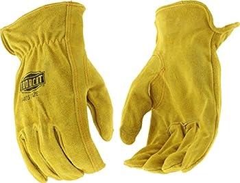 West Chester IRONCAT 9405 Grain Split Driver Glove – [1 Pair] XXX-Large Split Cowhide Leather Gloves with Elastic Wrist