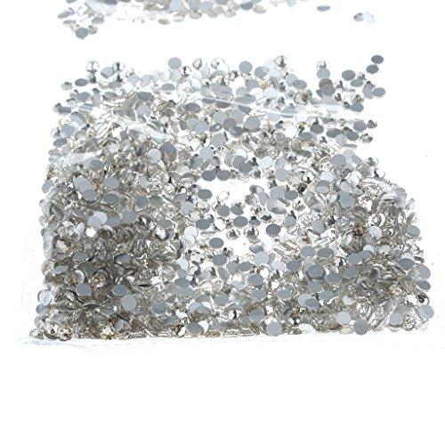 1440 Stück Strasssteine Kristall Nageldesign Nailart Diamant für Nagel Dekoration Nagel Kunst Strassstein Set - 2,8mm Weiß