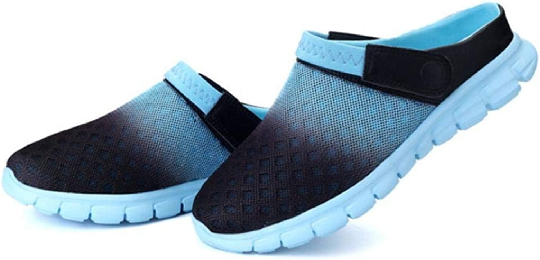 JaHGDU Burst Mesh Cloth Half Slippers Couple Models Casual shoes Men and Women Universal Stylish Summer Beach Large Size Sandals