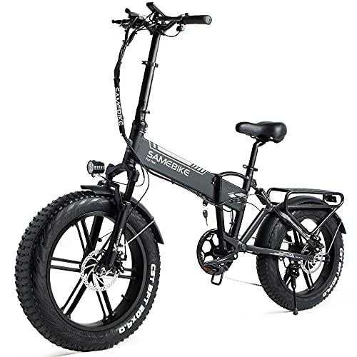 SAMEBIKE XWXL09 Fat Tire Bicicletta elettrica 500W Bicicletta elettrica Mountain Beach Snow Ebike 20...