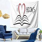 XCNGG Trump 2020 I Heart Books Tenda da tappezzeria Stampata Divertente per la Decorazione della casa del dormitorio della Camera dei Bambini in 59 'x 59' Pollici