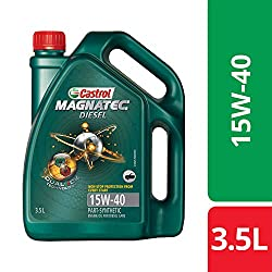 Castrol MAGNATEC Diesel 15W-40 API SN Part-Synthetic Engine Oil for Diesel Cars (3.5 L),Castrol,3382383