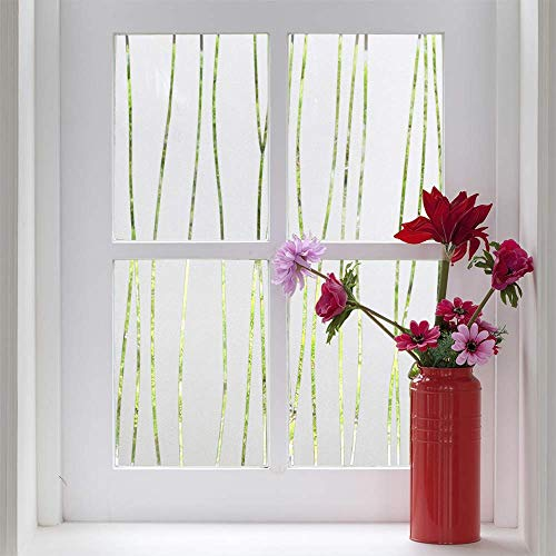 Finnez Window Film Privacy and Light Protection Sticker Film Frosted Look Static Cling for Home Office (17.5