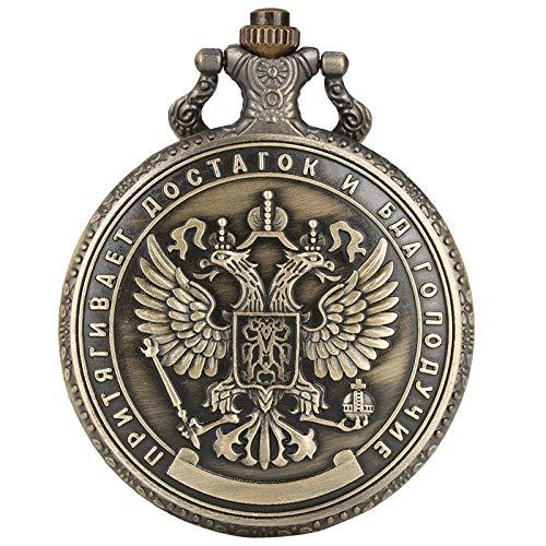 ZHAOXIANGXIANG Reloj De Bolsillo,Manualidades Copia Réplica Rusia Millón De Rublos Insignia Conmemorativa Reloj De Bolsillo De Colección De Monedas De Rublo Plateado En Relieve De Doble Cara