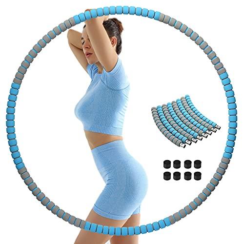 ACPURI Hula Hoop Reifen für Fitnessübungen, Hula Hoop Reifen Erwachsene & Kinder, Gewichtsverlust Schnell Durch Spaß, Fettverbrennung, Abnehmbares und Größenverstellbares Design (Durchmesser 95)