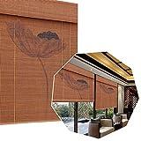 LMDX Estor Enrollable Bambu para Ventanas,Toldo Vertical,Protección Solar Y Transpirable,Balcón Cortinas Opacas,para Cocina, Baño, Jardín, Patio,Persianas Bambu Exterior (90 100 120 145 Cm)