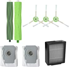 IOTdou Side Brush&Hepa Filters& Dirt Disposal Bags For Irobot Roomba I7 I7 I7 Plus E5 Accessories Green