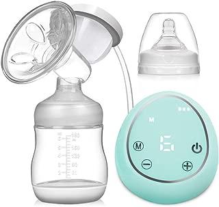 Nigecue Sacaleches eléctrico portátil recargable Extractor leche materna de lactancia Saca leche eléctrico reutilizable Bomba leche materna Ultra Mute con Pantalla Táctil LCD (Verde)