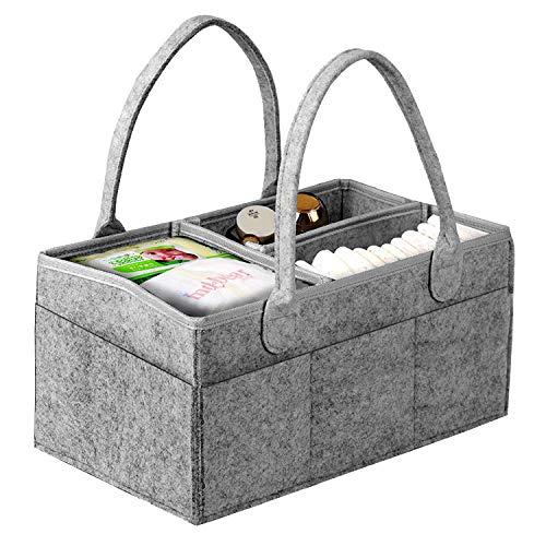 KITEOAGE Baby Wickeltisch Organizer Filztasche Windel Caddy Organizer Filzkorb Wickelkommode Aufbewahrungsbox für Kinderzimmer oder Autos