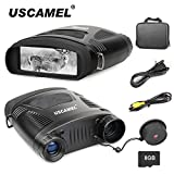USCAMEL Night Vision Binoculars 7.6x21mm HD Digital Infrared Military Hunting Scope with Memory