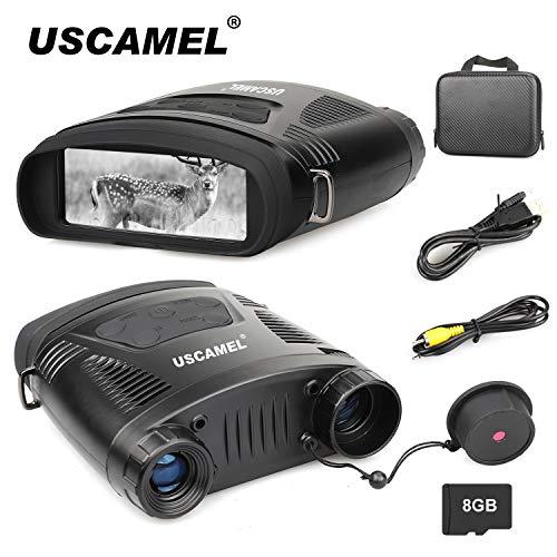 USCAMEL Night Vision Binoculars 7.6x21mm HD Digital Infrared...