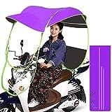 Barm Cubierta de la Lluvia de la sombrilla del Paraguas de la Motocicleta, Paraguas Impermeable Plegable eléctrico de la Bicicleta Universal, B