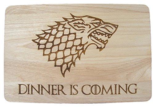 Planche à découper Game of Thrones en bois gravé au laser, idée cadeau Premium Hardwood 35x24x1.5 cm