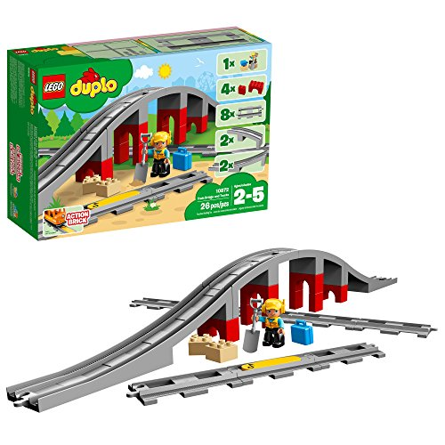 LEGO DUPLO Train Bridge and Tracks 10872 Building Blocks (26 Pieces)