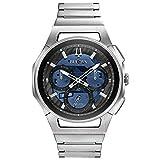 Bulova Herren Chronograph Quarz Uhr mit Edelstahl Armband 96A205