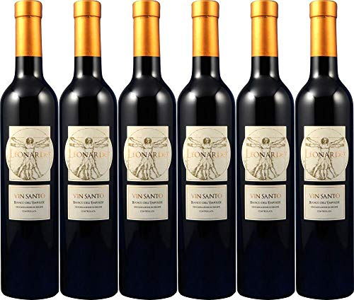 6x Leonardo Vinsanto Dell'empolese 2010 - Weingut Cantine Leonardo da Vinci, Toscana - Weißwein