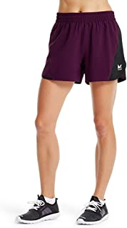 "Mission Women's VaporActive Ion 4"" Training Shorts, Potent Purple/Moonless Night, X-Small"