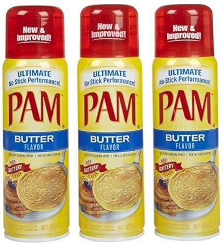 Pam Butter Flavor Cooking Spray, 5 oz 3pack by PAM