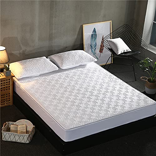 NHhuai Protector de colchón/Cubre colchón Acolchado, Ajustable y antiácaros. Funda de colchón de algodón Antideslizante