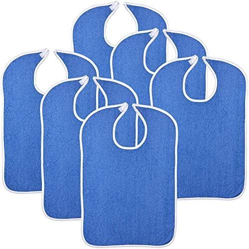 Simpli Magic 79271 Adult Terry Bibs 18 x30 Blue 6 Pack product image
