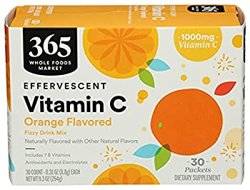 365 by WFM Vitamin C Effervescent Drink Mix Orange 0.31 Ounce 30 Pack
