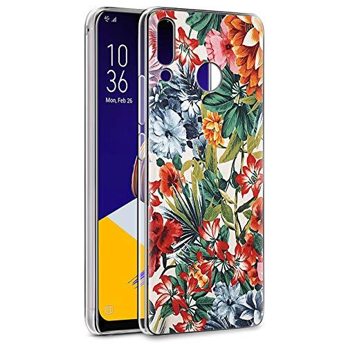 Coque ASUS Zenfone 5 ZE620KL, Eouine Etui en Silicone 3D Transparente avec Motif Peinture [Antichoc] Housse de Protection Coque pour Téléphone ASUS 5 ZE620KL / Zenfone 5z ZS620kl (Fleur colorée)